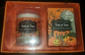 "MICHEL DESIGN WORKS ""TRICK OR TREAT"" Soap And Candle PUMPKIN SPICE Gingerbread"