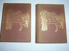 """2 Antique 1894 """"Popular English Ballads Ancient And Modern"""" ILLUSTRATED"""