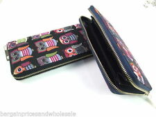 Unbranded Canvas Clutch Zip-Around Women's Purses & Wallets