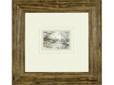 Peter Barker, RSMA - 'Winter on the Welland' - original watercolour, signed