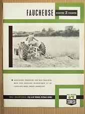 Prospectus Tracteur SOMECA  Faucheuse 3 Points 1962 brochure Tractor trattori