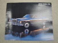 1978 Ford LTD Advertising Brochure