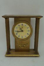 Uti Alarm Bronze French Clock 1970 Retro Vintage Pendulum