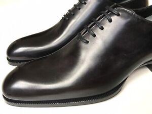TOM FORD Mens Elkan Wholecut Oxfords Shoes Black Leather Sz UK 11 $1800
