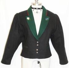 """ALTENBEURER WOOL Short Jacket Coat BLACK German Women Hunting Riding B42"""" 12 M"""