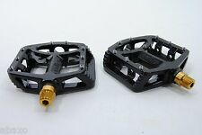 Wellgo MG-1 Titanium Spindle Axle MG1 Mountain BMX Bike Platform Pedals Black