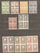 SHS Slovenia - 1920. Different stamps in block offour, MNH /62/
