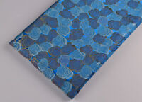 """BY1/2 YD. X 46"""" CLSSIC SILK DAMASK JACQUARD BROCADE STAIN FABRIC : ROSE IS BLUE"""