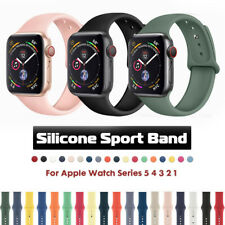 for Apple Watch Series 5 3 4 iWatch 38/40/42/44mm Soft SILICONE Sport Strap Band