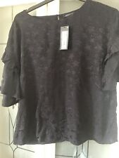 Ladies  M&S Navy Blue Star Blouse Top - Size 12 BNWT Christmas