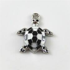 10pcs/lot Enamel Zinc Alloy Tiny Tortoise Shape Crafts Pendants Charms Jewelry