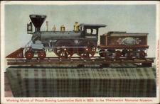 Model of Wood Burning Locomotive RR Train Chamberlain Mem Museum PC