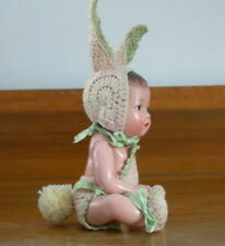 Antique Vintage Composition Baby Bunny Doll ~ Japan
