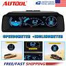 Car Digital OBD2 Inclinometer Angle Speedometer Head Up Display Gauge MPH/KM