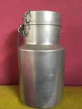 Ancien pot à lait avec couvercle - TOURNUS UNIS  Bidon - Aluminium - 3L