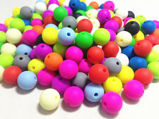 10 Perle 10mm Silicone Couleur Mixte Creation Bijoux, Bracelet, attache tetine