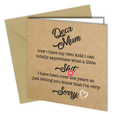 #466 MOTHERS DAY / BIRTHDAY Greeting Card Mum Boy Girl HUMOUR Funny Rude Banter