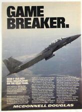 Vintage 1987 McDonnell Douglas F-15 Eagle Aircraft Plane Print Ad