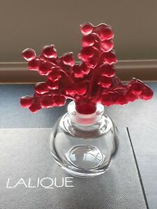 Lalique Clairefontaine Lily of the Valley Raspb Perfume Bottle BNIB Gift Idea