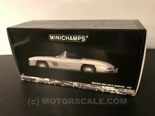 1/18 Mercedes Benz 300 SL Roadster 1957 silver Minichamps 180-039030 new in box