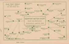 Tennessee Newport Newport Motor Court Route 25 & 70 With Map sk5791