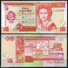 Belize - 5 Dollars 2002 AU-UNC, Pick 61b