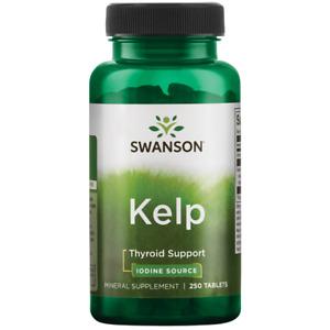 Swanson Atlantic Sea Kelp Iodine Source for Thyroid Support 225 Mcg 250 Tablets.
