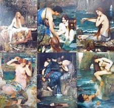 "Pre-Raphaelite 6 art artist prints J. W. Waterhouse 7"" x 5"" Water Sea Nymphs"