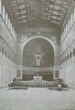 Interior, St. Boniface's Abbey, Munich, Germany, Magic Lantern Glass Slide