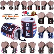 DEFY Power Weight Lifting Wrist Wraps Supports Gym Workout Bandage Straps 18""
