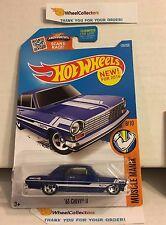 '62 Chevy II #128 * BLUE * 2016 Hot Wheels * W10