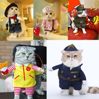 Puppy Cat Dog Clothes Apparel Pet Warm Sweater Coat Costume Cowboy Nurse
