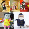 Puppy Cat Dog Clothes Apparel Pet Warm Sweater Coat Costume Cowboy Nurse Cosplay