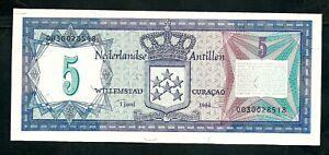 Netherlands Antilles (P15b) 5 Gulden 1984 UNC