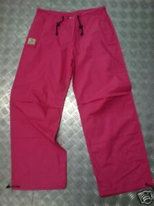 "Jungle Drawstring Parachute / Cargo Trousers - Pink - Max Waist 34"" - NEW"