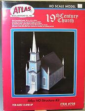 ATLAS HO 19th CENTURY CHURCH KIT ho gauge train accessory building house 708