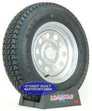 """Boat Trailer Tires by LoadStar ST 205/75D15 Silver Mod Wheel 5 Bolt 15"""" Rim"""