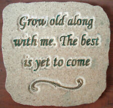 Grow old mold garden plaque plastic reusable mould