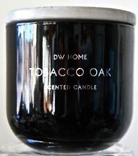 DW HOME CANDLE TOBACCO OAK 2 WK SOY WAX BLACK BALL JAR PORCELAIN LID NEW MRB7000