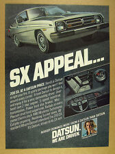1978 Datsun 200 SX 200SX silver car illustration art vintage print Ad