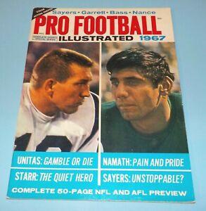 Pro Football Illustrated 1967 Magazine Colts Johnny Unitas Jets Joe Namath