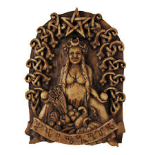 Habondia Goddess Wall Plaque - Wood Finish - Dryad Designs - Wicca Pagan Wicca