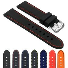 StrapsCo Silicone Rubber Mens Waterproof Diver Watch Band - Quick Release Strap