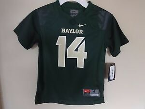 New With Tags Nike Baylor Bears # 14 NCAA Football Jersey Boys Youth 4T 4 Green