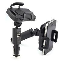 Dual USB Car Vehicle Cigarette Lighter Mount Holder Stand Charger For Cellphones