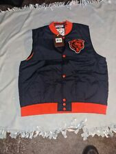 Chicago Bears Mitchell & Ness Free Agent button up vest/jacket
