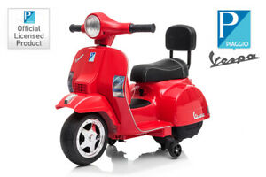Lizenz Vespa PX 150 Roller Scooter 1x 18W 6V Kinder Motorrad mit Stützräder