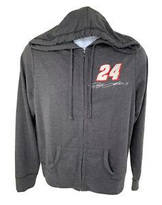 NASCAR Sweatshirt Hoodie  #24 Jeff Gordon Women's Medium Gray full zip