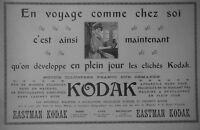 PUBLICITÉ DE PRESSE 1904 EASTMAN KODAK DÉVELOPPE EN PLEIN JOUR - ADVERTISING