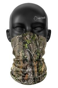 Tree Camo Colours Snood Face Mask Head Scarf For Kids & Children Tube Cover